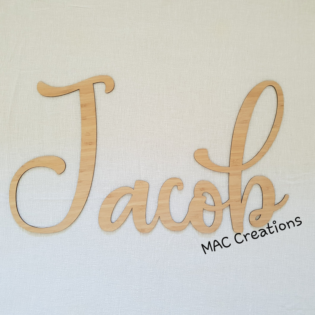 Name Cut-Out - Font 10 - MAC Creations Laser Co.