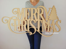 Load image into Gallery viewer, Merry Christmas Sign with Tree