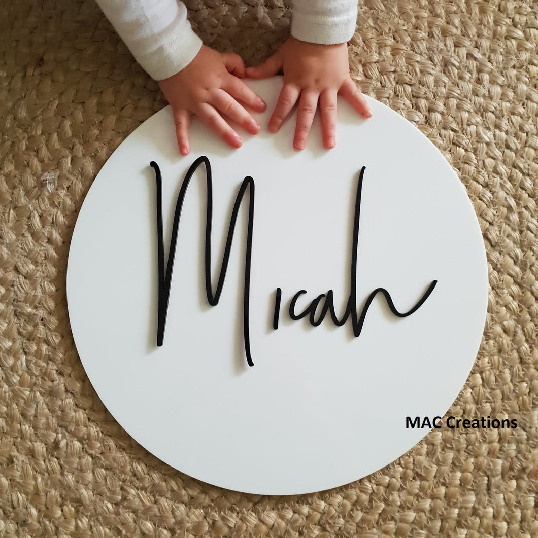 3D Name Plaque - MAC Creations Laser Co.