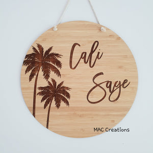 Palm Trees - Name Plaque - MAC Creations Laser Co.