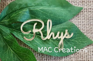 Wooden or Acrylic Place Names - Font 1 - MAC Creations Laser Co.