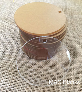 Blank Acrylic Discs/Circles - 2mm thick