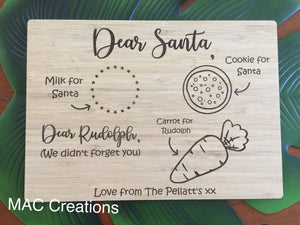 Santa Treat Plate - Rectangle - MAC Creations Laser Co.