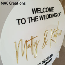 Load image into Gallery viewer, Round Welcome Sign with 3D text - MAC Creations Laser Co.