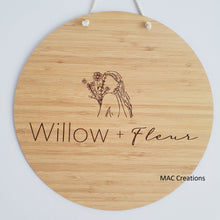 Load image into Gallery viewer, Wooden Business Flat Lay Disc or Mega Sign - MAC Creations Laser Co.