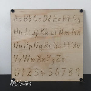 Alphabet + Number Tracing Board - MAC Creations Laser Co.