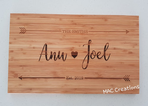 Personalised Chopping Board - MAC Creations Laser Co.