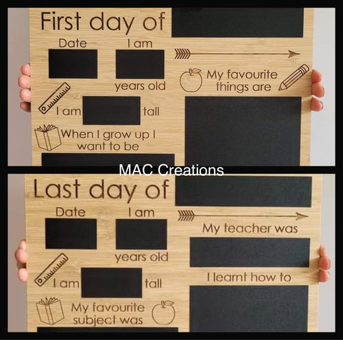 Double sided First Day/Last Day Board - Design 4