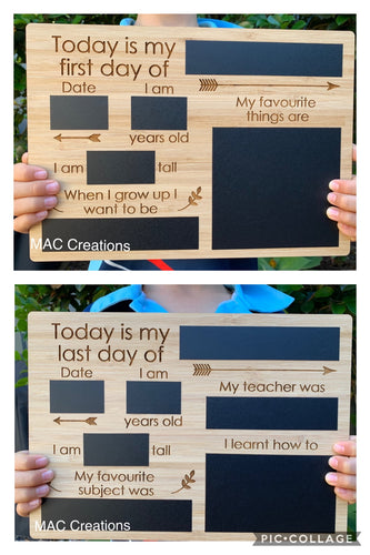 Double sided First Day/Last Day Board - Design 3