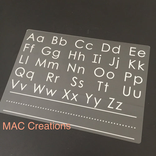 A4 Alphabet Tracing Board - MAC Creations Laser Co.