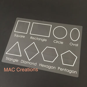 A4 Shape Tracing Board - MAC Creations Laser Co.