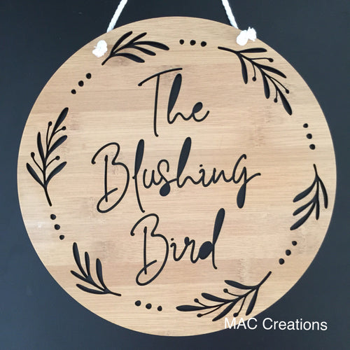 Branches and berries - Name Plaque - MAC Creations Laser Co.