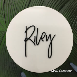 Double-Layered Acrylic Name Plaque - MAC Creations Laser Co.