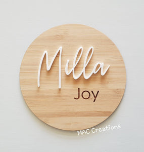 Baby Name Plaque - MAC Creations Laser Co.