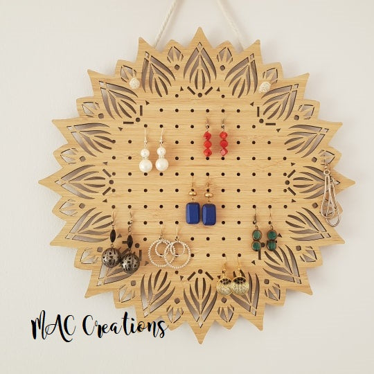 Mandala Earring Holder - MAC Creations Laser Co.