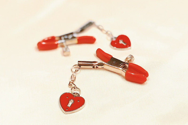 Pont Des Arts Red Nipple Clamps