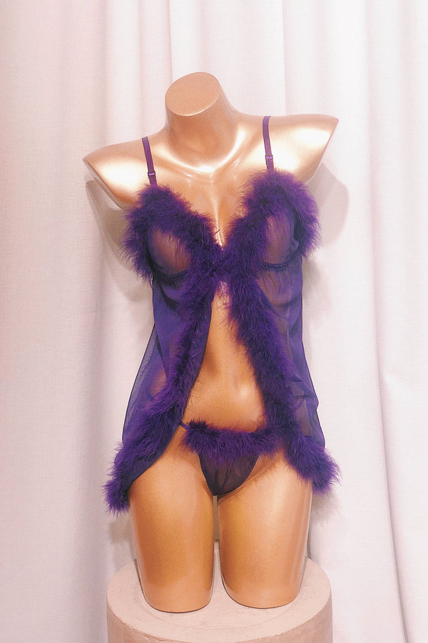 Pretty Loud Purple Babydoll Set