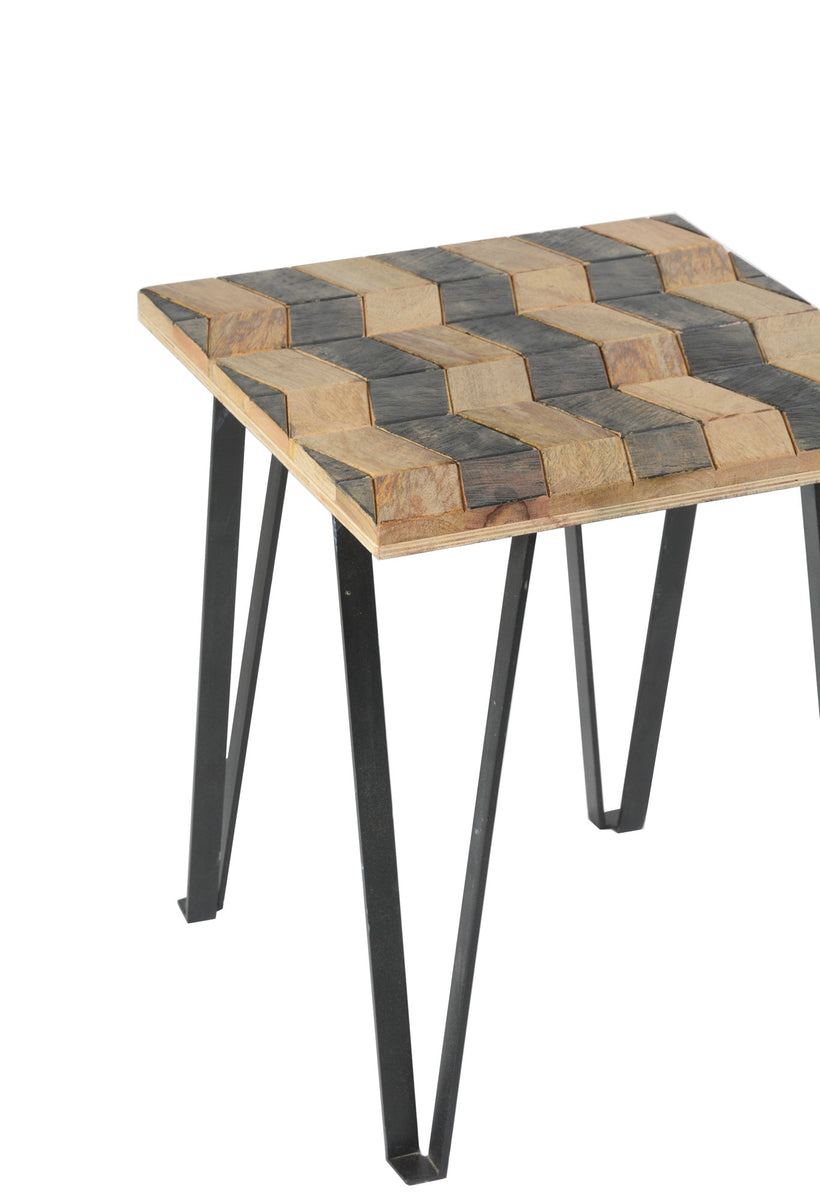Matrix Parquet End Table
