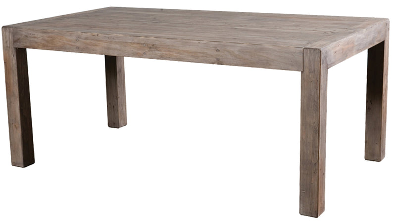Post & Rail Extension Dining Table in Sundried