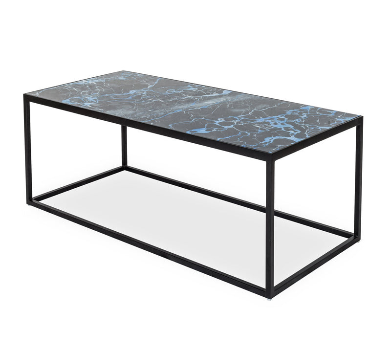 Indigo Glass Coffee Table