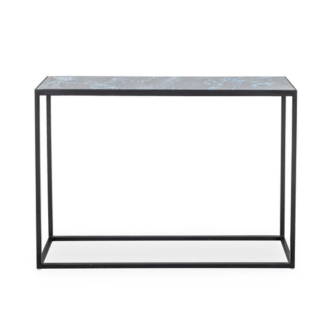 Indigo Glass Console Table