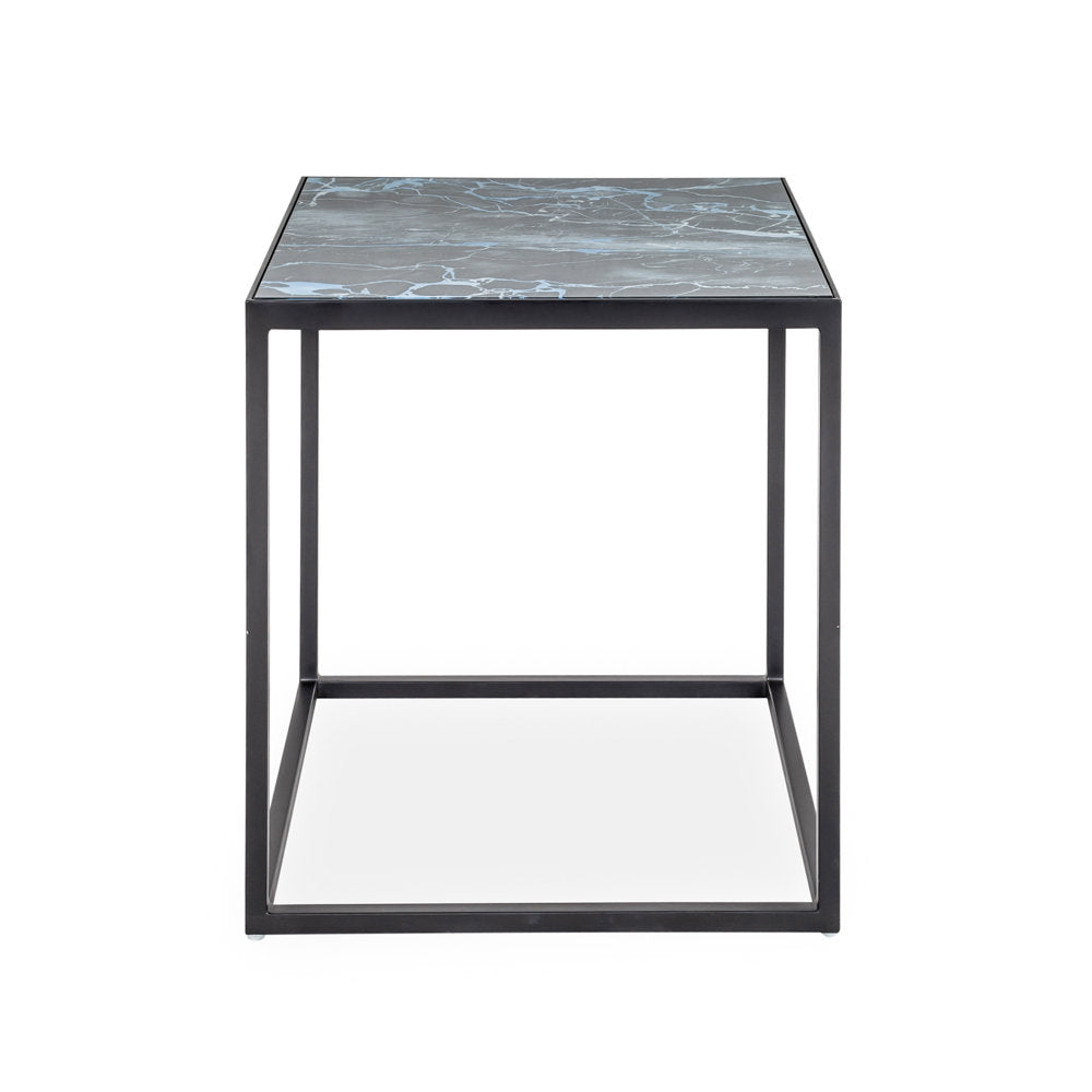 Indigo Glass Side Table