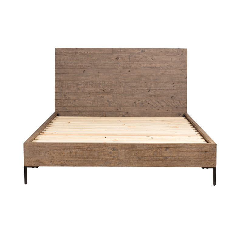 WYETH QUEEN BED - RUSTIC SUNDRIED ASH