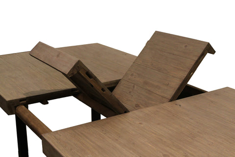 Wooden Forge Extension Dining Table in Sundried