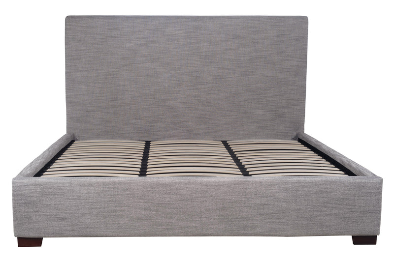 FINLAY STORAGE KING BED - DOVETAIL LINEN