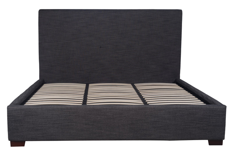 FINLAY STORAGE KING BED - CHARCOAL LINEN