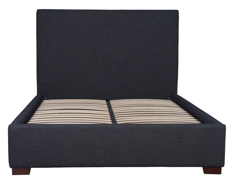 FINLAY STORAGE QUEEN BED - CHARCOAL LINEN