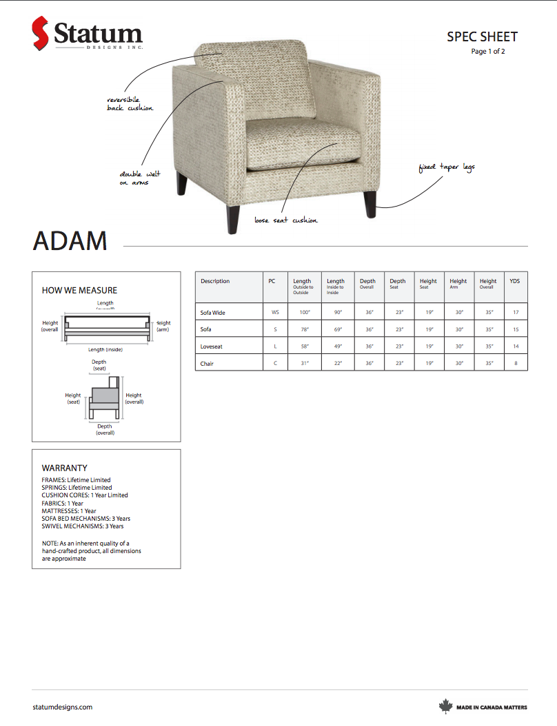 Adam Chair by Statum