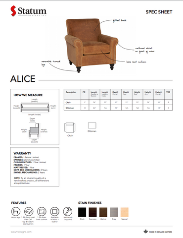 Alice Chair by Statum