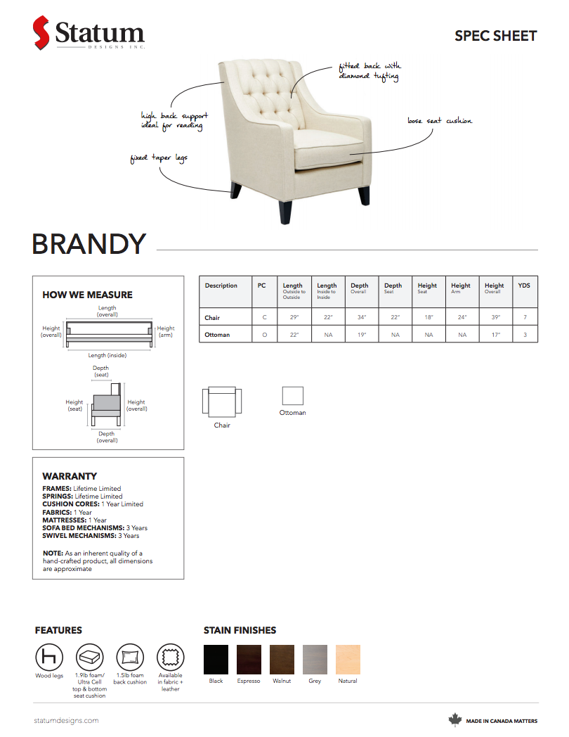 Brandy Chair by Statum