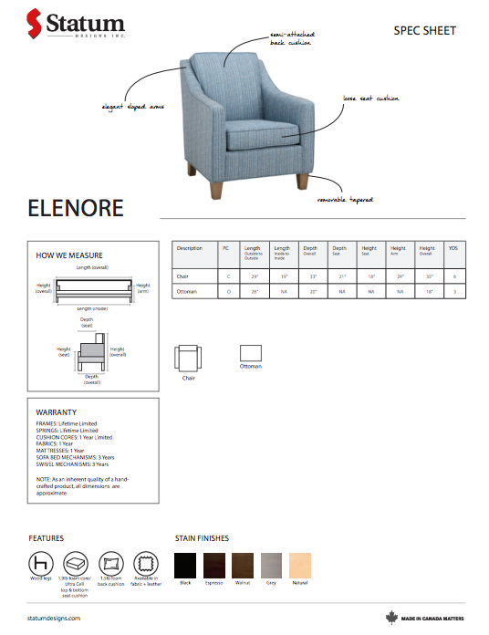 Elenore Chair by Statum