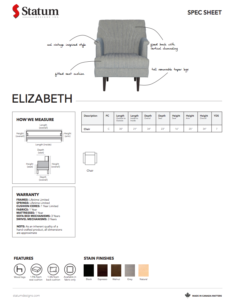 Elizabeth Chair by Statum