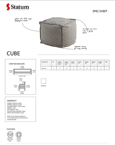 Cube Ottoman by Statum