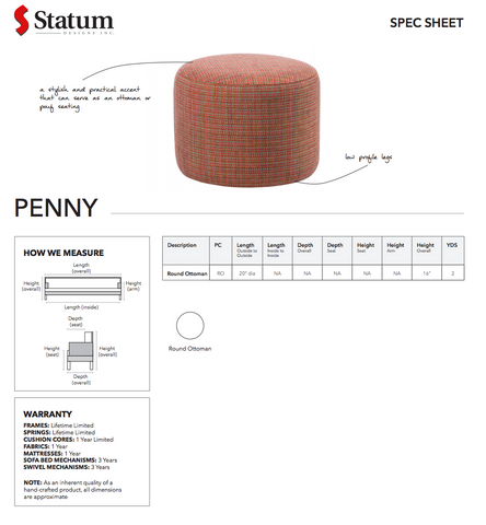 Penny Ottoman by Statum