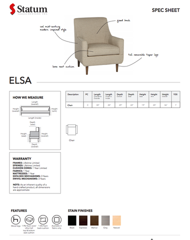 Elsa Chair by Statum
