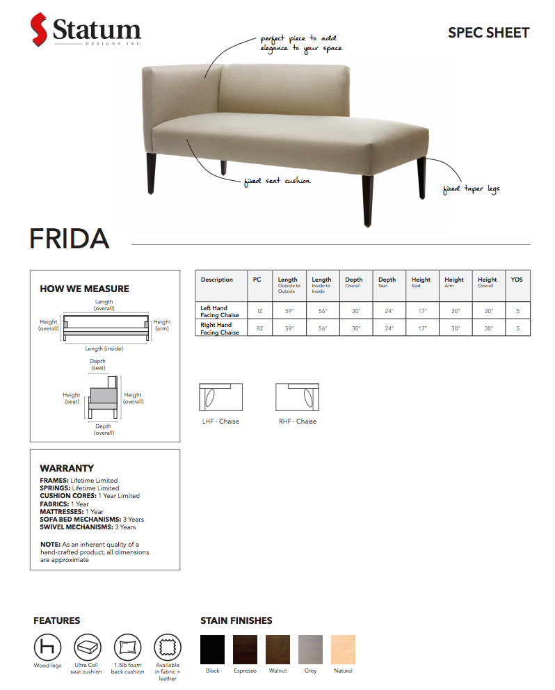 Frida Chaise by Statum