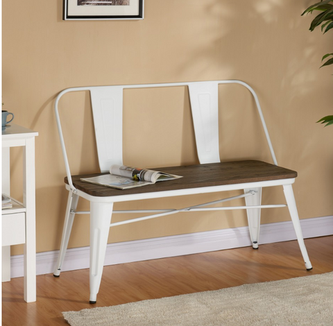 Modus Bench With White Back