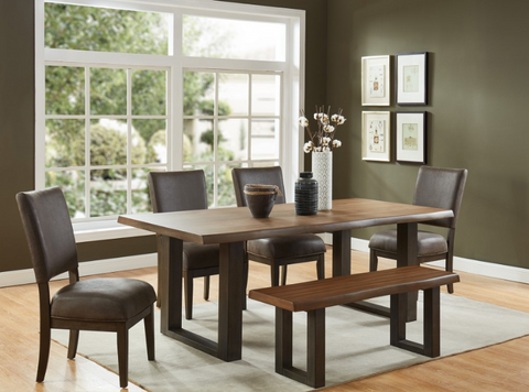 Forrest Rectangular Dining Table in Dark Oak & Grey