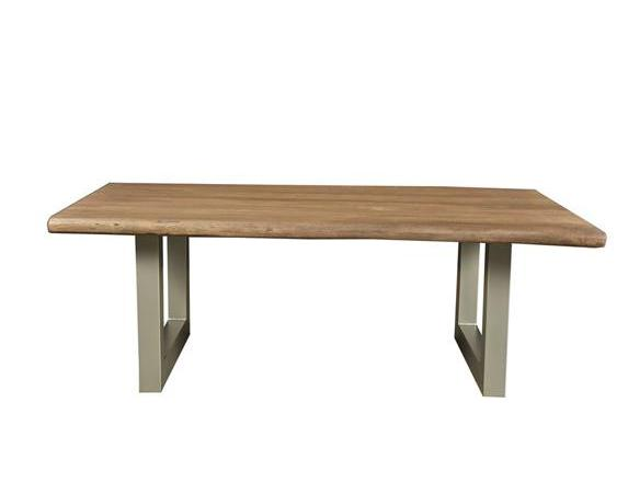 Taj Coffee Table in Matte Brown with U Tube Base