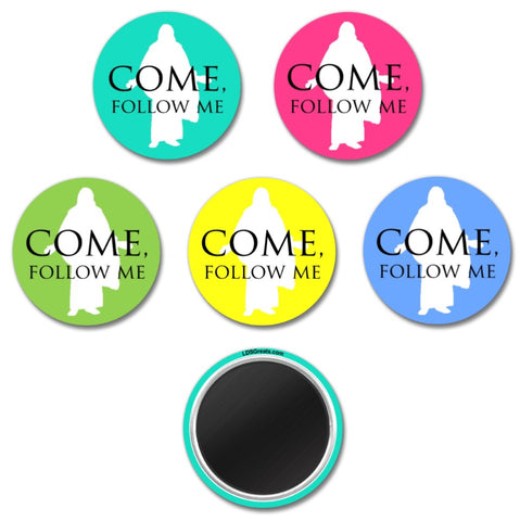 """Come, Follow Me"" MAGNET - 1.5"" - Christus"