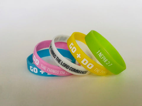 "2020 ""Go and Do"" WRISTBANDS - Youth Theme - YW/YM"