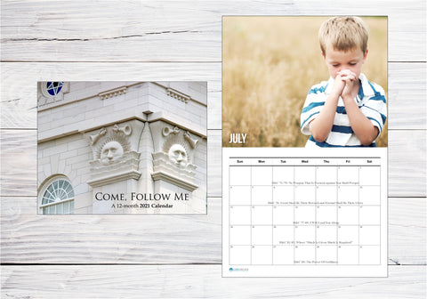 2021 Come Follow Me FULL WALL CALENDAR - FOLDED - PRINTED