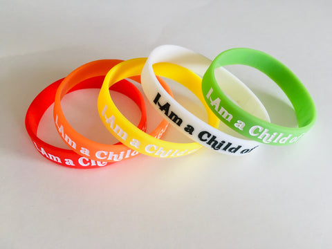 """I Am A Child of God"" WRISTBAND - ADULT size"