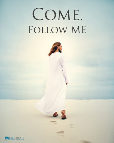 """Come, Follow Me"" PRINTABLE 5""x7"" or 8""x10"" - DOWNLOAD - pdf & jpg"