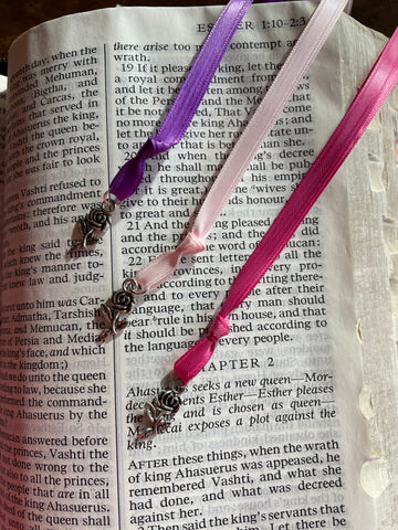 Rose Charm Bookmark
