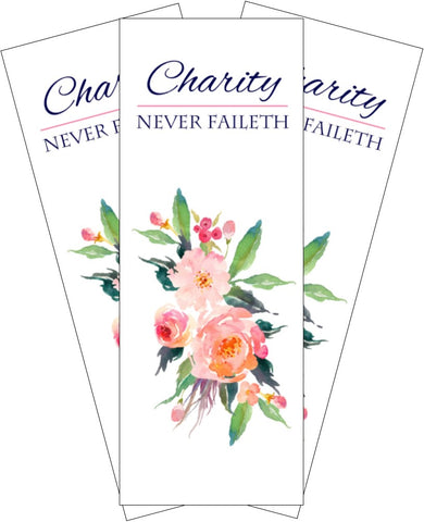 """Charity Never Faileth"" BOOKMARK"